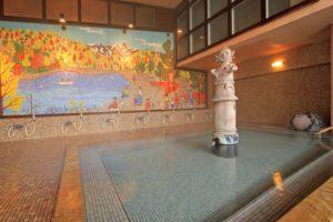 辰巳館のはにわ風呂